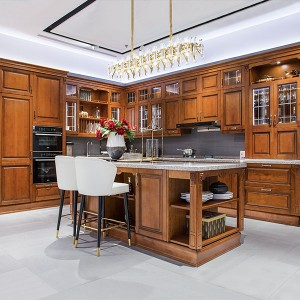 Traditional-Large-Size-Solid-Wood-Kitchen-With-Island-PLCC19122