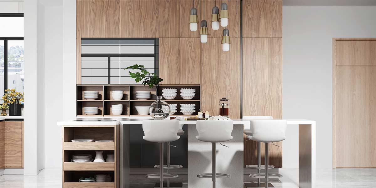 Comtemporary-Wood-Veneer-Kitchen-Cabinet-With-Island-OP20-018(3)